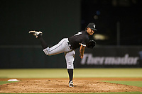 AZL White Sox relief pitcher Anthony Herron, Jr. (31) follows through on his delivery against the AZL Angels on August 14, 2017 at Diablo Stadium in Tempe, Arizona. AZL Angels defeated the AZL White Sox 3-2. (Zachary Lucy/Four Seam Images)