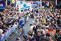 Tom Boonen (BEL/Etixx-QuickStep) trying to get to the start<br /> <br /> 100th Ronde van Vlaanderen 2016