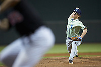 Wilmington Blue Rocks relief pitcher Tyler Zuber (23) in action against the Winston-Salem Dash at BB&T Ballpark on April 17, 2019 in Winston-Salem, North Carolina. The Blue Rocks defeated the Dash 2-1. (Brian Westerholt/Four Seam Images)