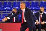 EUROLEAGUE 2020-2021. Playoffs.Game 1.<br /> FC Barcelona vs Zenit St. Petersburg: 74-76.<br /> Sarunas Jasikevicius.