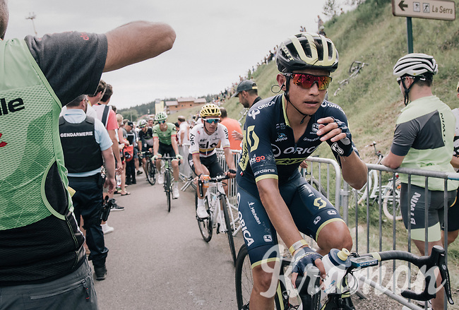 Johan Esteban Chaves (COL/ORICA-Scott) rolling in after the finish with the other GC contenders<br /> <br /> 104th Tour de France 2017<br /> Stage 8 - Dole › Station des Rousses (187km)