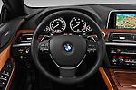 Car pictures of steering wheel view of a 2015 BMW 6 Series 640i 2 Door Convertible Steering Wheel