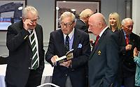 10th October 2019 | Syd Millar Pathway<br /> <br /> Ian McIlrwath, Syd Millar and Stephen Hilditch during the official opening of the Syd Millar Pathway at Kingspan Stadium, Ravenhill Park, Belfast, Northern Ireland. Photo by John Dickson / DICKSONDIGITAL