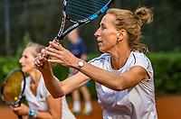 Hilversum, The Netherlands,  August 20, 2021,  Tulip Tennis Center, NKS, National Senior Tennis Championships, Women's doubles 50 + : Miriam Swarte (NED) (L) and Florentine Molkenboer-Schneider (NED)<br /> Photo: Tennisimages/Henk Koster