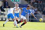 17.07.2021 Rangers B v Bo'ness Utd: Kane Ritchie-Hosler gets past Michael Gemmell