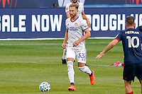 CHICAGO, UNITED STATES - AUGUST 25: Caleb Stanko #33 of FC Cincinnati dribbles the ball during a game between FC Cincinnati and Chicago Fire at Soldier Field on August 25, 2020 in Chicago, Illinois.