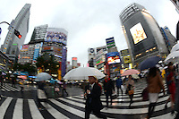 The famous Shibuya Crossing, Tokyo, Japan.<br /> April-2014
