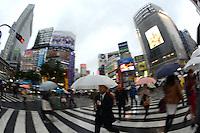The famous Shibuya Crossing, Tokyo, Japan.<br /> April-2014