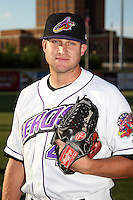 Akron Aeros Bryce Stowell #47 before a game against the Trenton Thunder at Canal Park on July 26, 2011 in Akron, Ohio.  Trenton defeated Akron 4-3.  (Mike Janes/Four Seam Images)