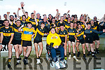 Dr Crokes team celebrate with Ian O'Connell after winning the Kerry County Intermediate Hurling Championship Final match between Dr Crokes and Tralee Parnell's at Austin Stack Park in Tralee