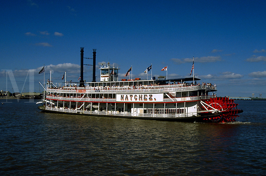 The Natchez Riverboat. New Orleans, Louisiana.