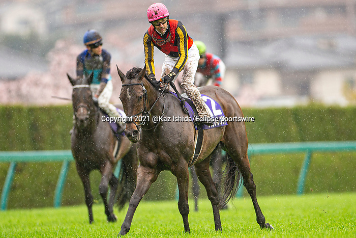 TAKARAZUKA,JAPAN-APR 4: Gran Alegria (finished 4th),after the Osaka Hai at Hanshin Racecourse on April 4,2021 in Takarazuka,Hyogo,Japan. Kaz Ishida/Eclipse Sportswire/CSM