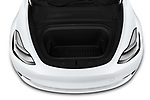 Car Stock 2021 Tesla Model-Y Long-Range-AWD 5 Door SUV Engine  high angle detail view