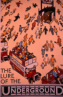 "London: Underground--Poster 1927. ""The Lure of the Underground"", Alfred Leete.  Photo '91."