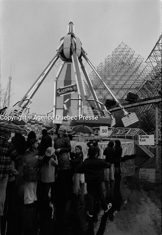 ARCHIVE -<br /> <br /> La Ronde et Terre des Hommes, <br /> en Mai 1975<br /> , date exacte inconnue<br /> <br /> Photo : Agence Quebec Presse  - Alain Renaud