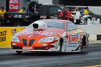 Nov. 10, 2011; Pomona, CA, USA; NHRA pro stock driver Jason Line during qualifying at the Auto Club Finals at Auto Club Raceway at Pomona. Mandatory Credit: Mark J. Rebilas-.