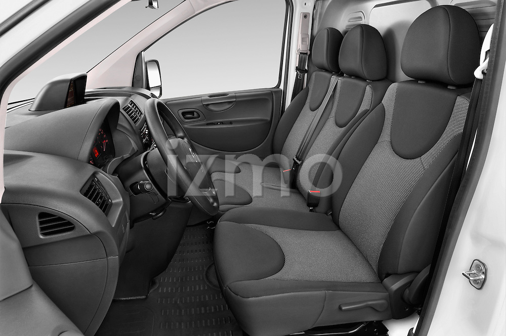 Front seat view of a 2015 Citroen Jumpy L1H1 Ft10 4 Door Cargo Van front seat Stock Photo