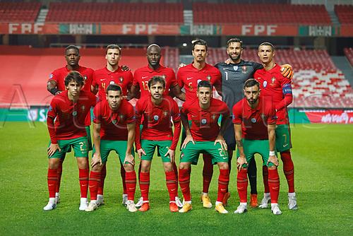 14th November 2020, The Estádio da Luz, Lisbon, Portugal; Nations League International football, Portugal versus France; Players of Portugal pose for official photo
