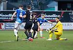 Dundee v St Johnstone…29.12.18…   Dens Park    SPFL<br />David Wotherspoon's shot is blocked<br />Picture by Graeme Hart. <br />Copyright Perthshire Picture Agency<br />Tel: 01738 623350  Mobile: 07990 594431