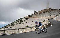 multiple TdF winner Chris Froome (GBR/Israel Start-Up Nation) coming down the Mont Ventoux behind the peloton<br /> <br /> Stage 11 from Sorgues to Malaucène (199km) running twice over the infamous Mont Ventoux<br /> 108th Tour de France 2021 (2.UWT)<br /> <br /> ©kramon