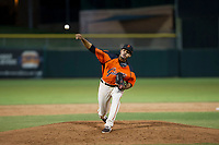 AZL Giants relief pitcher Olbis Parra (72) delivers a pitch to the plate during Game Three of the Arizona League Championship Series against the AZL Cubs on September 7, 2017 at Scottsdale Stadium in Scottsdale, Arizona. AZL Cubs defeated the AZL Giants 13-3 to win the series two games to one. (Zachary Lucy/Four Seam Images)