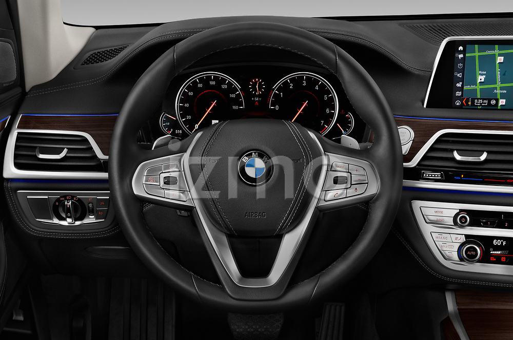 Car pictures of steering wheel view of a 2019 BMW 7-Series 740i 4 Door Sedan Steering Wheel