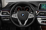 Car pictures of steering wheel view of a 2019 BMW 7-Series 740i 4 Door Sedan Steering Wheel