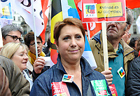 October 10 2017, Paris, France. Demonstration against the Labor Law.<br /> Bernadette Groissan of the FSU was present. # MANIFESTATION CONTRE LA LOI TRAVAIL