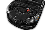 Car stock 2020 Acura RDX A-Spec Package 5 Door SUV engine high angle detail view