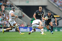 Jamie George of Saracens in action during the Premiership Rugby Round 1 match between Saracens and Wasps at Twickenham Stadium on Saturday 6th September 2014 (Photo by Rob Munro)