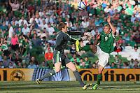 Jon Walters attacks goal