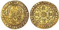 BNPS.co.uk (01202 558833)<br /> Pic: Spink/BNPS<br /> <br /> Pictured: James I, Spur Ryal, 1611-1612 with an estimate of £60,000 is described as an astonishing example of Jacobean portraiture, sold for £280,000.<br /> <br /> The family of a late steeplejack are celebrating today after his incredible collection of rare coins sold for a whopping £2.8m.<br /> <br /> The 52 coins from the Tudor and Stuart periods were amassed by prolific collector Horace Hird over 50 years.<br /> <br /> He died in 1973 and it had been presumed he had sold all his coins while he was still alive. But a descendant found dozens of them still wrapped with their paperwork dating back to the 1960s.