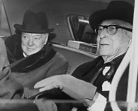 Winston Churchill and Bernard Barcuch, 1961