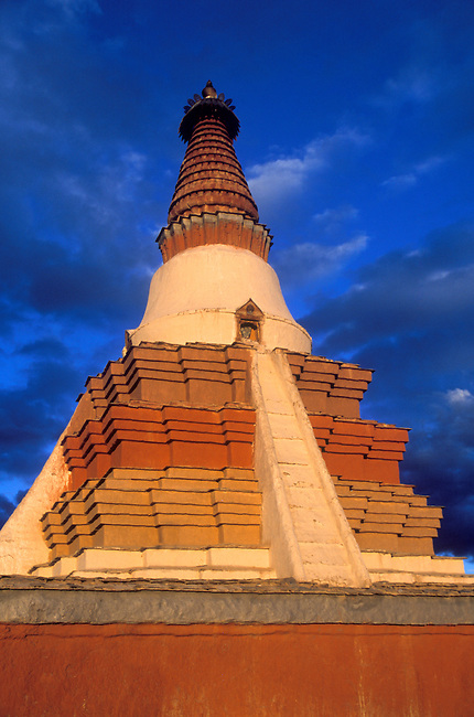THOLING with its INDIAN STYLE 11th Century CHORTEN built by RINCHEN ZONGPO - GUGE KINGDOM, TIBET