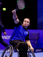 Rotterdam, Netherlands, December 13, 2017, Topsportcentrum, Ned. Loterij NK Tennis, Wheelchair, Rutger Bakker (NED)<br /> Photo: Tennisimages/Henk Koster
