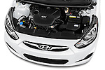 Car Stock 2017 Hyundai Accent SE 6-Speed Automatic 5 Door Hatchback Engine  high angle detail view
