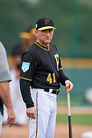 Pittsburgh Pirates hitting coach Rick Eckstein (41) during the teams first Spring Training practice on February 18, 2019 at Pirate City in Bradenton, Florida.  (Mike Janes/Four Seam Images)