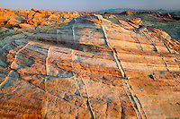Petrified sand dunes near Rainbow Vista<br />