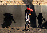 Street photography Cebu city and Mactan island, Philippines Shadows along the wall