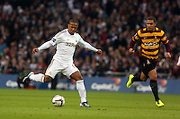 Pictured: Wayne Routledge (R). Sunday 24 February 2013<br /> Re: Capital One Cup football final, Swansea v Bradford at the Wembley Stadium in London.