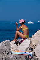 Slowenien,  Piran, am Strand