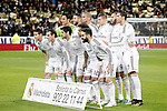 Real Madrid's team photo with Keylor Navas, Sergio Ramos, Pepe, Toni Kroos, Karim Benzema, Cristiano Ronaldo, James Rodriguez, Garet Bale, Isco, Marcelo Vieira and Daniel Carvajal during Spanish King's Cup match.January 15,2015. (ALTERPHOTOS/Acero)