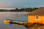 Sunrise on Lake Winnisquam, Sanbornton, New Hampshire, USA