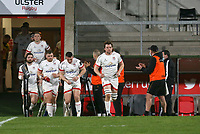 19th March 2021;   Jordi Murphy leads Ulster out during the final round of the Guinness PRO14 against Zebre Rugby held at Kingspan Stadium, Ravenhill Park, Belfast, Northern Ireland. Photo by John Dickson/Dicksondigital