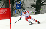 Mac Marcoux, Sochi 2014 - Para Alpine Skiing // Para-ski alpin.<br /> Mac Marcoux competes in the men's Super G, visually impaired event // Mac Marcoux participe à Super G masculin pour hommes ayant une déficience visuelle. 08/03/2014.
