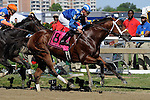 05 15 2010: Longshot Taqarub & Eibar Coa win the Grade 3 Maryland Sprint Handicap at 6 furlongs, for 3 year olds & up, at Pimlico Race Course, Baltimore, MD. Trainer Kiaran McLaughlin.  Owner Shadwell Stables