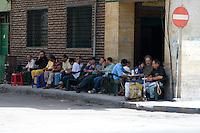 Tripoli, Libya - Men Having Coffee, Umar Mukhtar Street