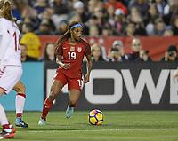 San Diego, Ca - Sunday, January 21, 2018: Crystal Dunn during a USWNT 5-1 victory over Denmark at SDCCU Stadium.