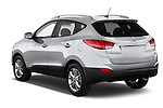 Car pictures of rear three quarter view of a 2015 Hyundai Tucson SE Awd 5 Door Suv 2WD Angular Rear