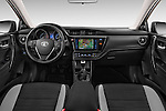 Stock photo of straight dashboard view of 2015 Toyota Auris Touring Sports Dynamic 5 Door Wagon Dashboard